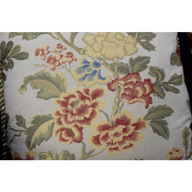 Late 20th Century Pr. Of Possible Italian Scalamandre Down Filled Pillows For Sale - Image 5 of 13