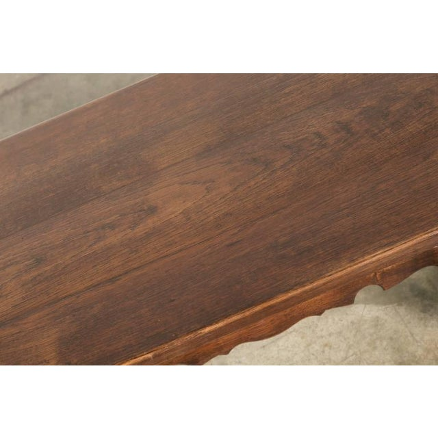 Late 19th Century Antique Spanish Colonial Style Oak Coffee Table For Sale - Image 5 of 10