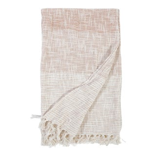 Isla Oversized Throw in Ivory and Amber For Sale