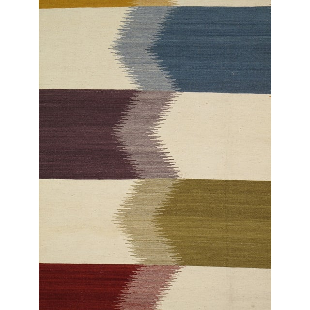 Modern Reversable Wool Kilim- 5' x 8' - Image 2 of 2
