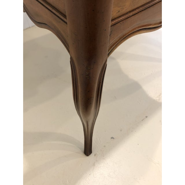 Brown Vintage Baker Furniture Mahogany and Burl Wood Side Tables - Pair For Sale - Image 8 of 12