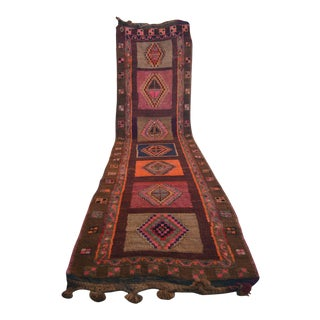 Hand Knotted Tribal Rug Wide and Long Runner - 4′1 ″ x 15′2″