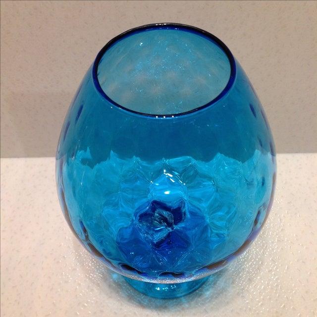 Blue Optic Glass Murano Vases A Pair Chairish