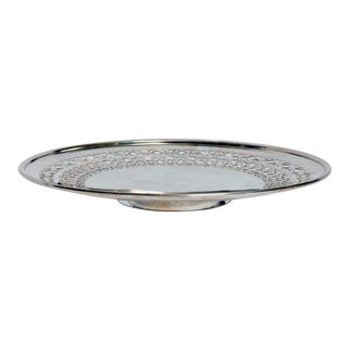 Mid Century Reticulated Round Tray For Sale