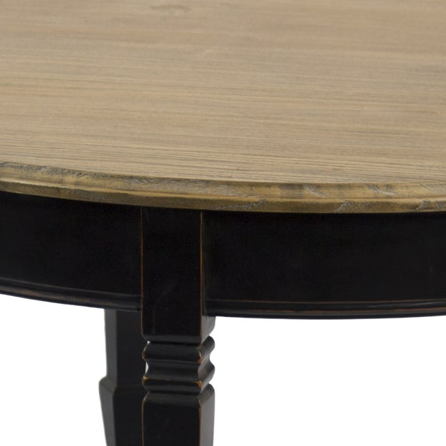 Round Reclaimed Wood Coffee Table - Image 2 of 2