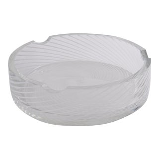 Spiral White & Clear Murano Glass Dish
