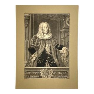 18th Century German Mezzotint Portrait of Adam Rudolph Kress Von Kressenstein For Sale