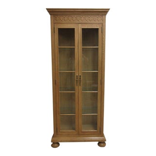 Henredon Carved Curio China Cabinet For Sale