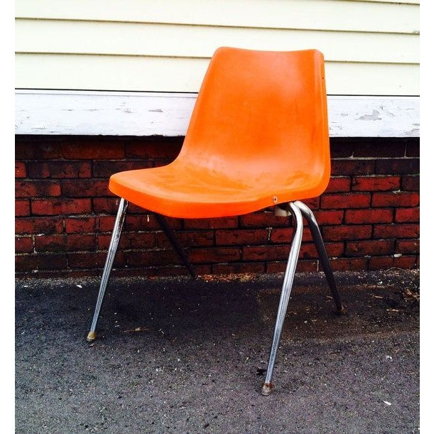 Orange Astro Furnishings Shell Chair - Image 2 of 5