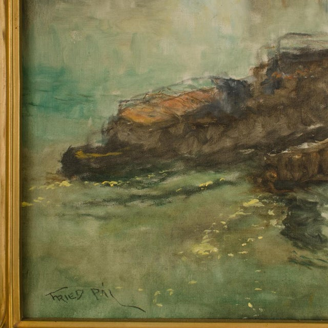 "Early 20th Century ""Towboat"" Nautical Oil Painting by Pal Fried, Framed For Sale In Philadelphia - Image 6 of 12"