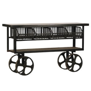 Industrial Trolly Cart Table For Sale