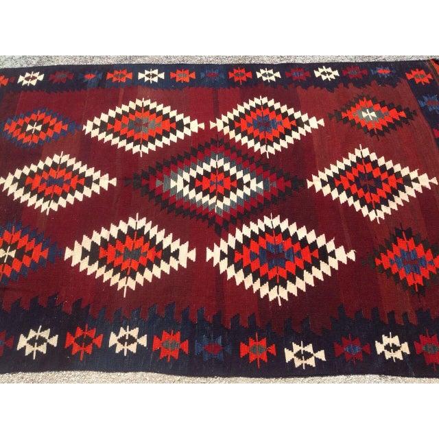 Vintage Turkish Kilim Rug - 5′6″ × 8′4″ For Sale - Image 5 of 8
