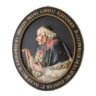 1770 Oval Carved Wood Framed Bishop Portrait For Sale
