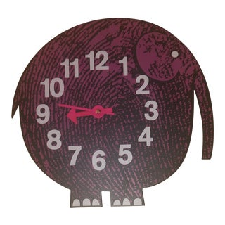 George Nelson by Vitra Elihu the Elephant Wall Clock For Sale