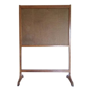 Vintage Wood Framed Double Sided Cork Board