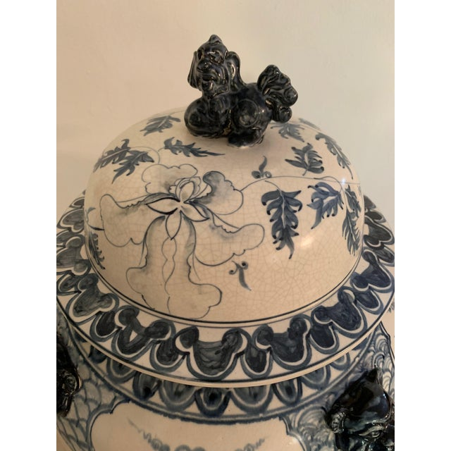 Theodore Alexander Antique Theodore Alexander Ming Design White Ginger Jar on Wood Base For Sale - Image 4 of 11