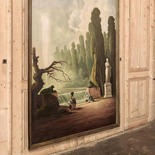 Early 20th Century Grand Framed Oil Painting on Canvas by E. Carliez After H. Robert For Sale - Image 5 of 12