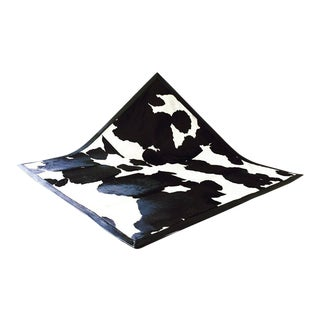Black & White Cowhide Area Rug For Sale