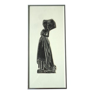 Mod Medieval Lady Tomb Rubbing