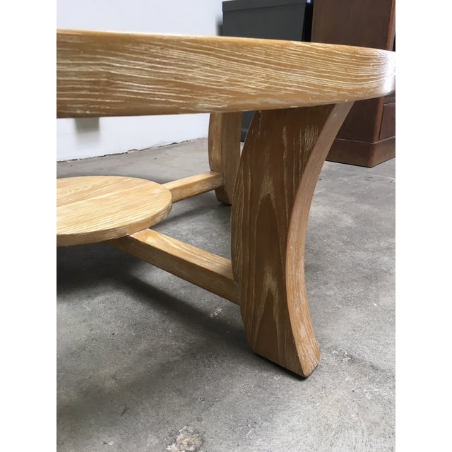 1940s Mid-Century Modern Paul Frankl for Brown Saltman Round Cerused Oak Coffee Table For Sale - Image 10 of 12