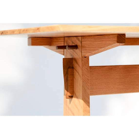 Japanese Style Trestle Table & Bench - A Pair - Image 6 of 11