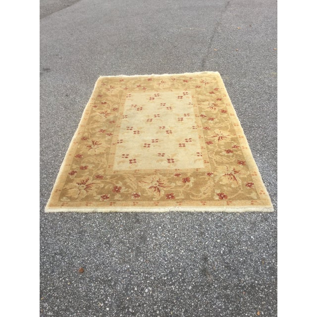 Turkish Oushak Rug - 4′3″ × 6′ - Image 5 of 5