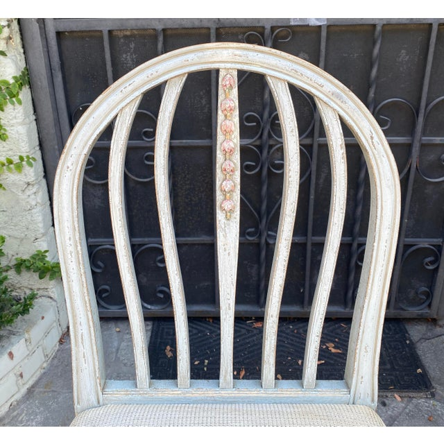 Gustavian Style Swedish Paint Decorated Side Chair For Sale - Image 4 of 5