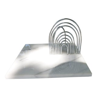 Large Yaacov Agam Sculpture Kahala Welcome Chrome Arches on Marble Base