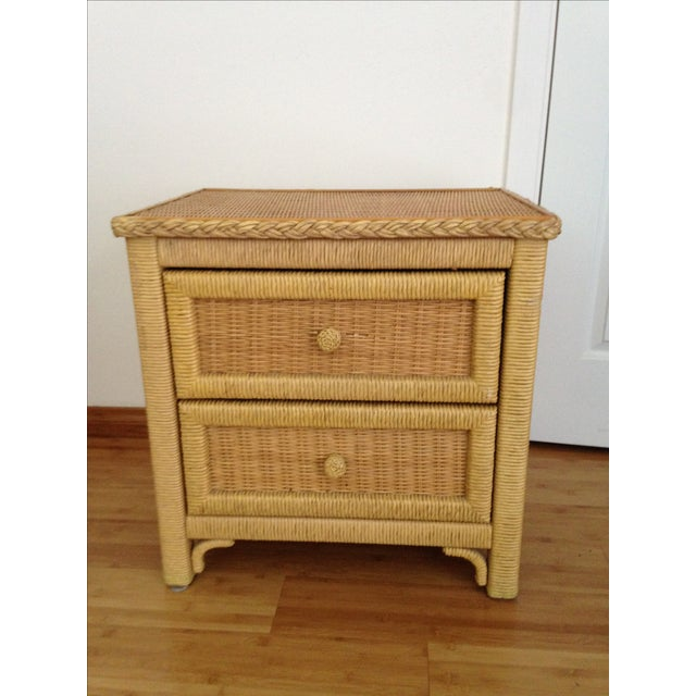 Vintage Wicker Henry Link Nightstand - Image 2 of 8