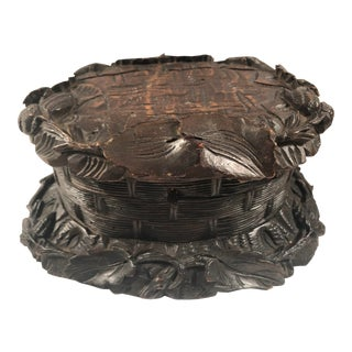 Late 19th Century Black Forest Carved Box For Sale