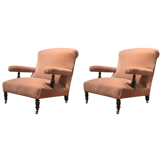19th Century French Mohair Upholstery Armchairs- a Pair For Sale - Image 10 of 10