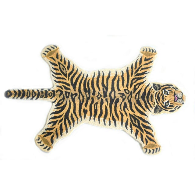 Textile 1990s Vintage Tiger Style Persian Rug - 3′ × 5′ For Sale - Image 7 of 7