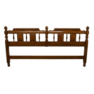 Sumter Colonial Style Solid Maple King Size Headboard For Sale