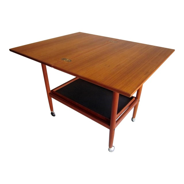 Danish Modern Mid-Century Bar Cart Table - Image 1 of 8