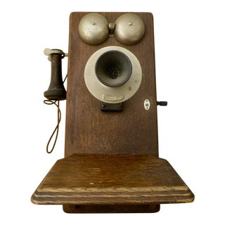 Antique Western Electric Oak Telephone