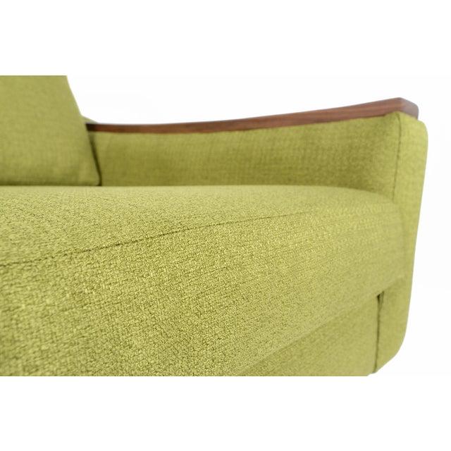 """Mid-Century Style """"Piedmont"""" Sofa in Avocado - Image 7 of 10"""