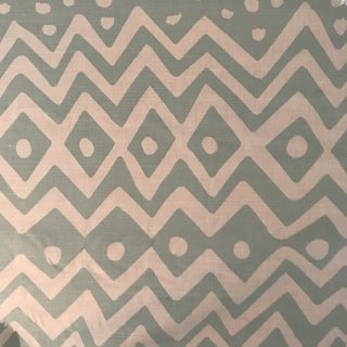 "Boho Chic China Seas ""Deauville"" Pale Aqua on White 1 1/2 Continuous Yards of Fabric For Sale"