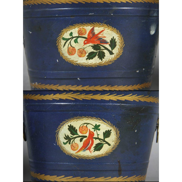 Pair of Swedish Tole Peinte Covered Barrels For Sale - Image 4 of 12
