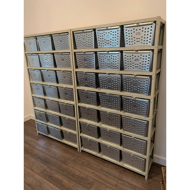 Vintage Industrial Wire Swim and Gym Baskets With Shelving Set of 2 For Sale - Image 13 of 13