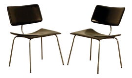 Image of Leather Slipper Chairs