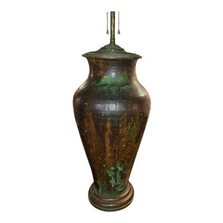 Art Pottery Lamp For Sale