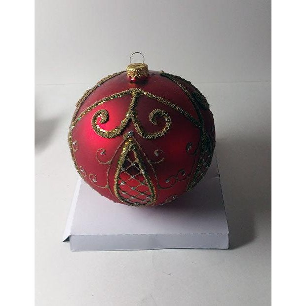 Red and Gold Hand Made Polish Tree Ornament - Image 4 of 6