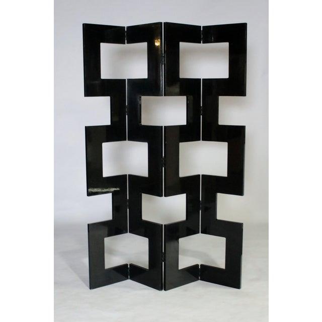 Modernist Black Lacquered Wood Room Divider For Sale - Image 4 of 7