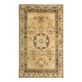 """Antique Chinese Khotan Rug 4'8"""" X 7'7"""" For Sale"""