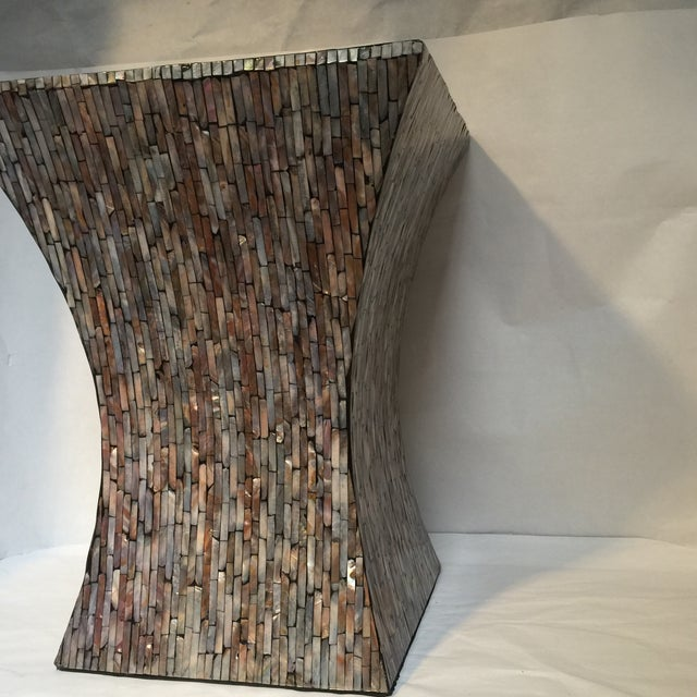 Abalone Shell Mosaic Table - Image 6 of 8
