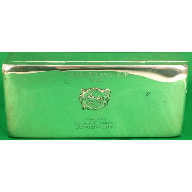 "Poole Sterling 1955 Dedham Country and Polo Club Cigarette Case. Dimensions: 7 1/2""W x 3 1/4""D x 1 7/8""H"