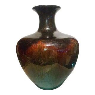 Large Drip Glaze Vase