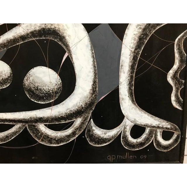 Black and White Large Painting George Mullen For Sale - Image 9 of 10