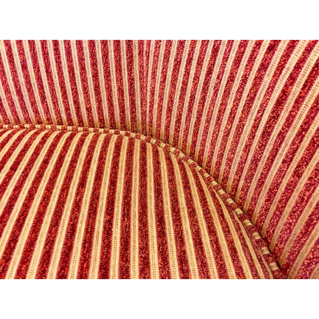Charter Furniture Co Wale Red Gold Corduroy Armchair Chairish