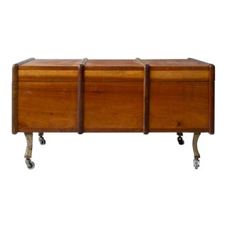 Vintage Mid Century French Tunisian Trunk For Sale